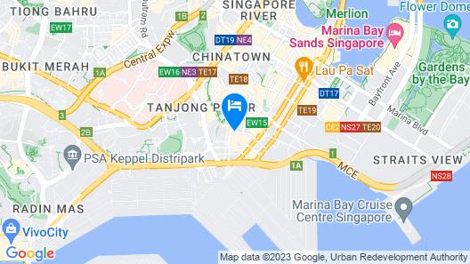 Carlton City Hotel Singapore Map