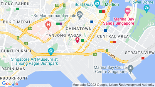 Oasia Hotel Downtown Singapore (SG Clean) Map