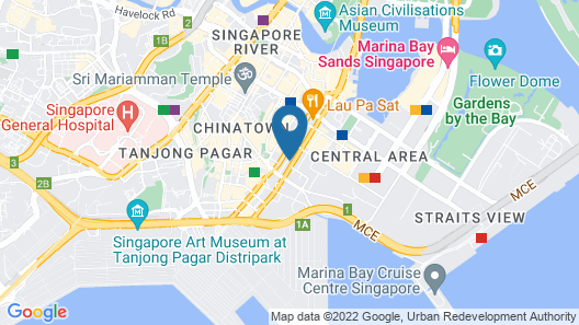 Oakwood Premier AMTD Singapore (SG Clean) Map