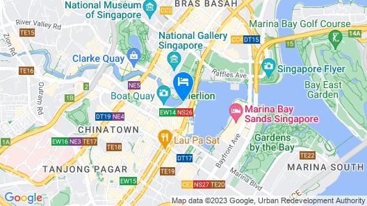 The Fullerton Hotel Singapore Map