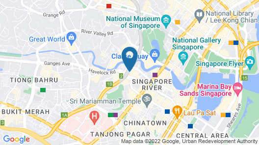 Holiday Inn Express Singapore Clarke Quay (SG Clean) Map