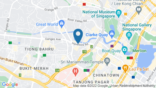 Four Points by Sheraton Singapore, Riverview (SG Clean) Map