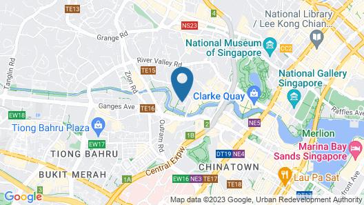 M Social Singapore (SG Clean) Map