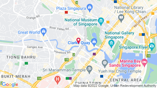 Robertson Quay Hotel (SG Clean) Map
