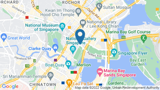 Swissotel The Stamford, Singapore Map