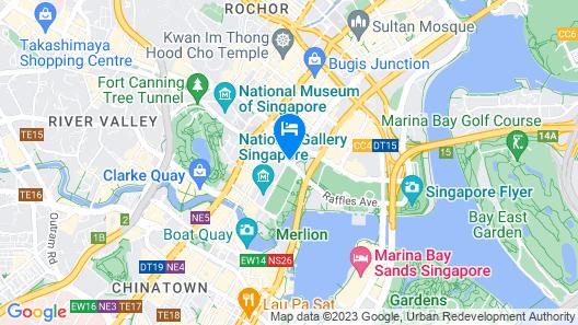 Swissotel The Stamford, Singapore Map
