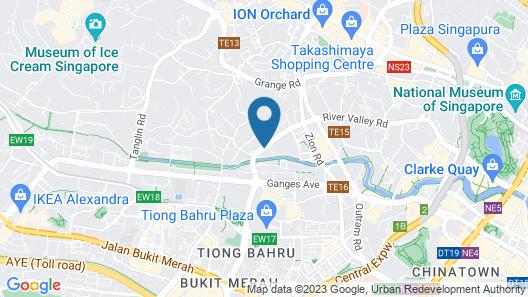 Fraser Suites Singapore (SG Clean) Map