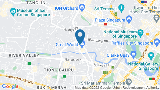 Great World Serviced Apartments Map