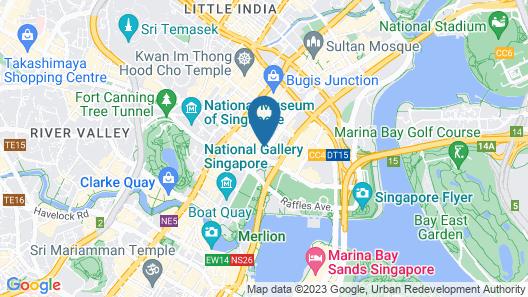 Raffles Hotel Singapore (SG Clean) Map