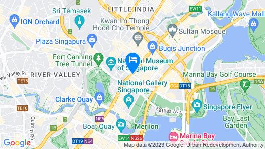 Carlton Hotel Singapore (SG Clean) Map