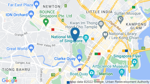 Hotel Fort Canning Map
