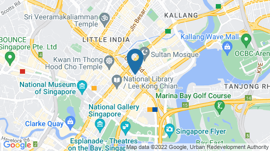 Andaz Singapore - a concept by Hyatt Map