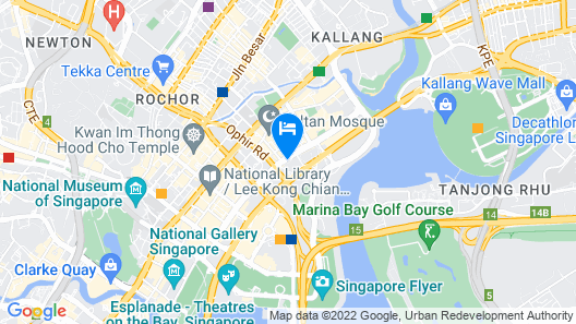 Pan Pacific Serviced Suites Beach Road, Singapore (SG Clean) Map