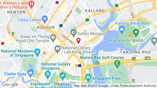 Pan Pacific Serviced Suites Beach Road, Singapore Map