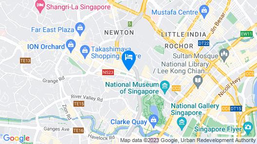 Concorde Hotel Singapore Map