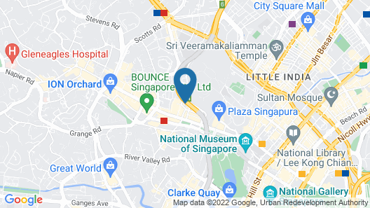 Holiday Inn Singapore Orchard City Centre, an IHG Hotel Map