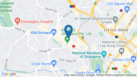 Holiday Inn Express Singapore Orchard Road (SG Clean), an IHG Hotel Map