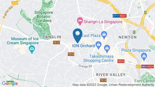 The St. Regis Singapore (SG Clean) Map