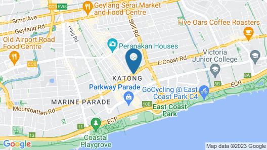 Santa Grand Hotel East Coast Map