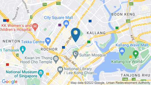Hotel NuVe Urbane (SG Clean) Map