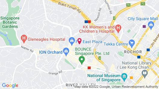 Quincy Hotel (SG Clean) Map
