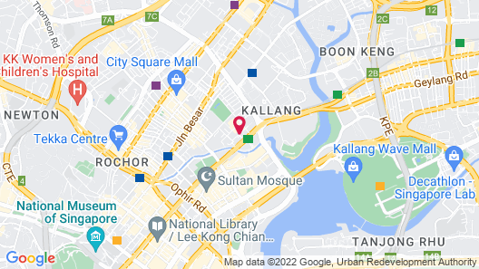 V Hotel Lavender (SG Clean) Map