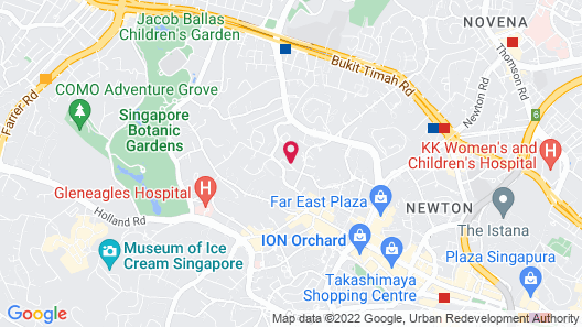 Shangri-La Hotel, Singapore Map