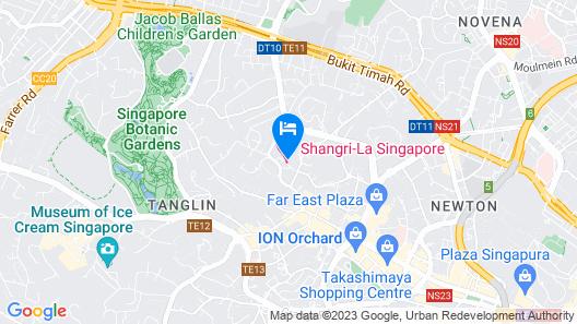 Shangri-La Hotel, Singapore (SG Clean) Map