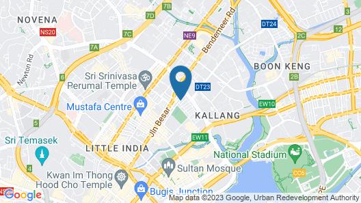 Parc Sovereign Hotel - Tyrwhitt Map