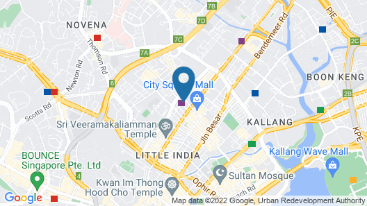 One Farrer Hotel (SG Clean) Map