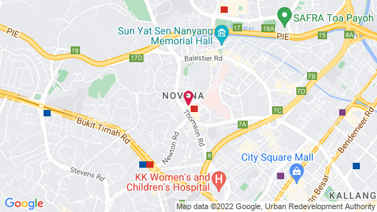 Courtyard by Marriott Singapore Novena (SG Clean) Map