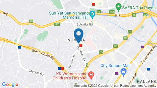 Courtyard by Marriott Singapore Novena Map