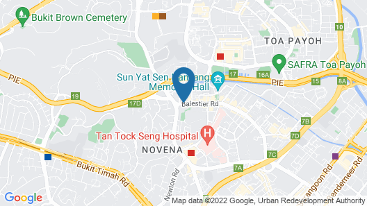 Value Hotel Thomson (SG Clean) Map