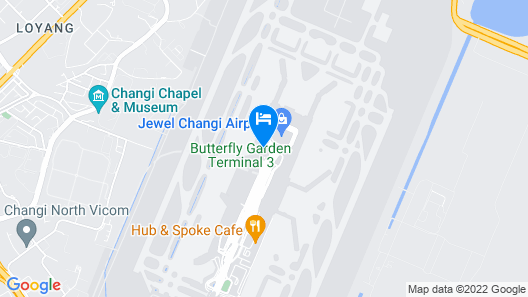 Crowne Plaza Changi Airport Map