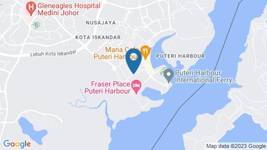 Teega Suites @ Puteri Harbour Map
