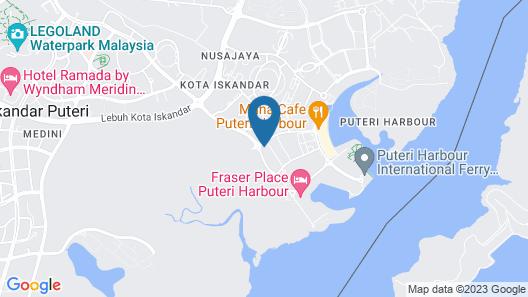 Almas Suites Puteri Harbour Hello Kitty Map