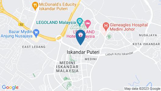Cozy Condo at The Meridin Medini Map