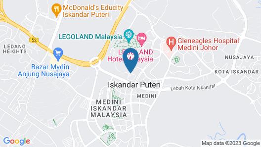 Ramada by Wyndham Meridin Johor Bahru Map