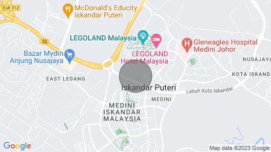 Legoland Penthouse Wifi @JB City Homestay Map