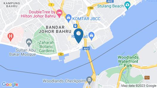 Z Hotel Johor Map