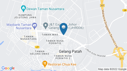M+ Boutique Hotel Map