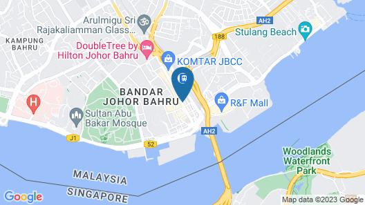 T-Hotel Johor Bahru Map