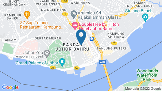 The Puteri Pacific Johor Bahru Map