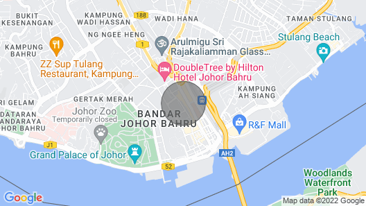 【JB Town】Executive Suite 688sf 1-4pax 【Free Wifi】 Map