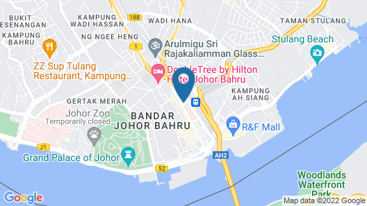 Holiday Inn Johor Bahru City Centre Map