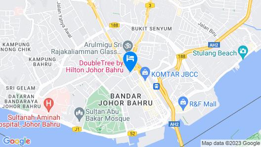 DoubleTree by Hilton Hotel Johor Bahru Map