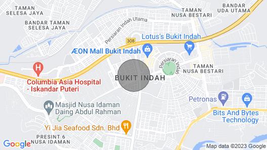 Double Storey Deluxe Home Johor Bahru Bukit Indah Map