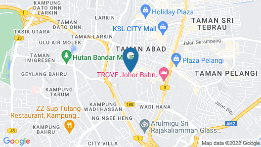Glex Hotel Signature Johor Bahru  Map