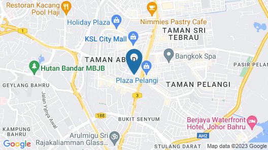 Hallmark Regency Hotel - Johor Bahru Map