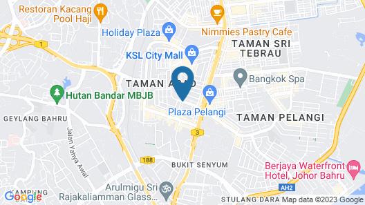 Grand Paragon Hotel Johor Bahru Map